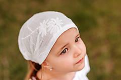 Detské čiapky - Šatka z mušelínu do horúčav - 13408529_