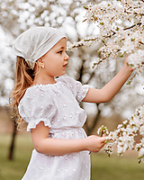 Detské čiapky - Šatka z mušelínu do horúčav - 13408530_