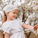 Detské čiapky - Šatka z mušelínu do horúčav - 13408531_