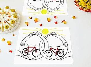 Úžitkový textil - Cyklo Prostírání - Svatební dar ❤ - 13408800_