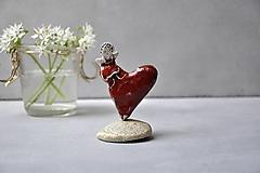 Dekorácie - anjel na srdci  - 13408703_