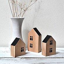 Dekorácie - Drevené domčeky - bukové - 13409007_