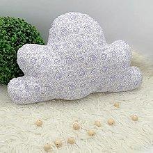 Textil - VANKÚŠIK - Obláčik, mráčik.fialový kvet - 13409343_