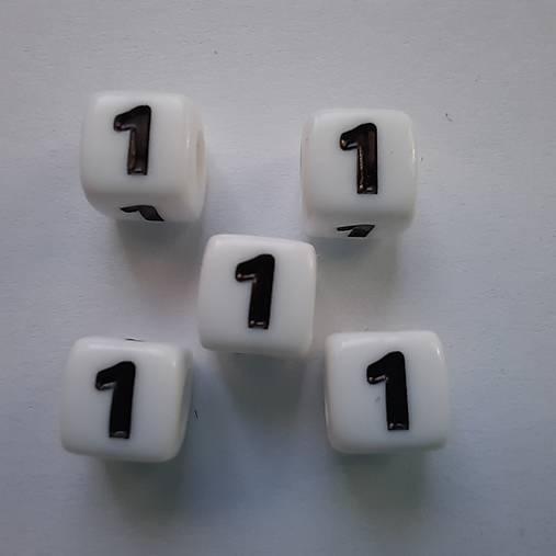 Číslice plast KOCKA 7mm