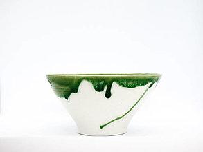 Nádoby - Miska zeleno biela - 13412208_