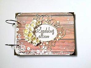 Papiernictvo - Fotoalbum svadobný * svadobný album * kniha hostí A5 - 13412273_
