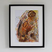 Obrazy - help me . akvarel / kresba na výkrese . A3 - 13412074_