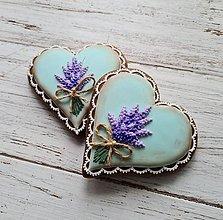 Dekorácie - Srdiečko Lavender - 13413109_