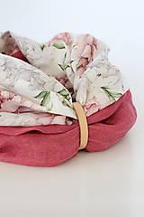 """Šatky - Veľký dvojitý dámsky kvetinový nákrčník """"Elizabeth"""" - 13412250_"""