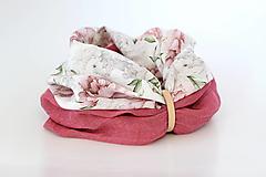 """Šatky - Veľký dvojitý dámsky kvetinový nákrčník """"Elizabeth"""" - 13412251_"""