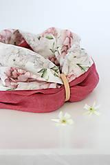 """Šatky - Veľký dvojitý dámsky kvetinový nákrčník """"Elizabeth"""" - 13412260_"""