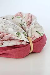 """Šatky - Veľký dvojitý dámsky kvetinový nákrčník """"Elizabeth"""" - 13412261_"""