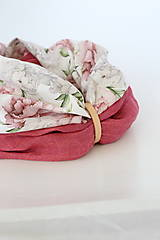 """Šatky - Veľký dvojitý dámsky kvetinový nákrčník """"Elizabeth"""" - 13412265_"""