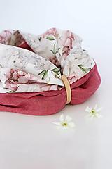 """Šatky - Veľký dvojitý dámsky kvetinový nákrčník """"Elizabeth"""" - 13412505_"""
