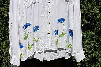 Košele - Letná blúzka kvetinková veľkosť 50  XL - XXL - NA LÚKE - 13411934_