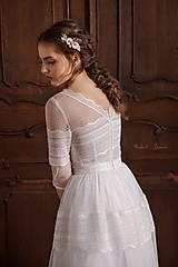 Šaty - Svadobné šaty z bodkovaného tylu vo vintage štýle - 13411754_