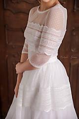 Šaty - Svadobné šaty z bodkovaného tylu vo vintage štýle - 13411856_