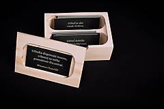 Krabičky - Pre učiteľov - drevená krabička s citátmi - 13412004_