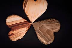 Dekorácie - Srdiečko drevené - 13412195_