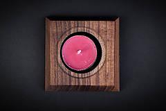 Pomôcky - Svietnik drevený - 13412374_