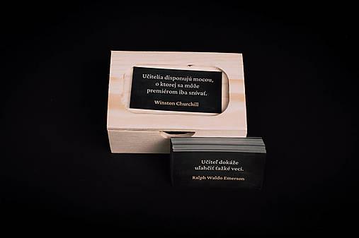 Pre učiteľov - drevená krabička s citátmi