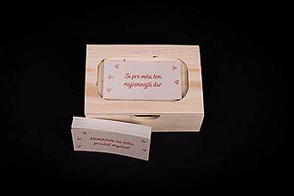 Krabičky - Pre zaľúbených - drevená krabička s vyznaniami - 13411981_