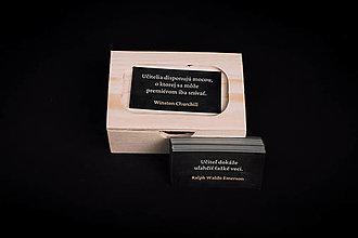 Krabičky - Pre učiteľov - drevená krabička s citátmi - 13412002_