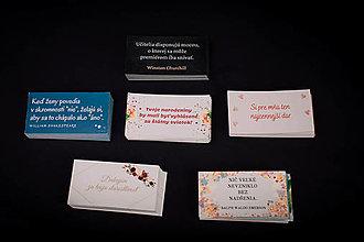 Papiernictvo - Sada kartičiek (rôzne varianty) - 13412101_