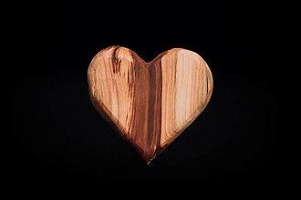 Dekorácie - Srdiečko drevené - 13412199_