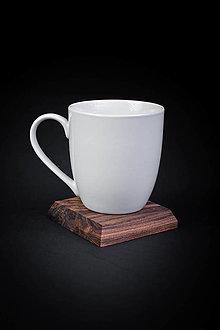 Pomôcky - Podšálka drevená - 13412356_
