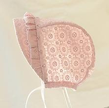 Detské čiapky - čepček Madeira old pink - 13413903_
