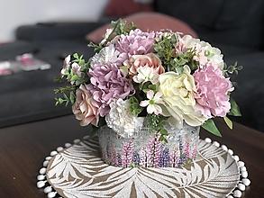 """Dekorácie - Kvetinova dekoracia """"romantika"""" - 13413593_"""