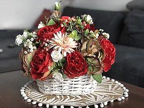 Dekorácie - Pruteny kos s kvetmi - 13413599_