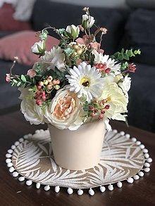 Dekorácie - Vysoka kvetinova dekoracia - 13413626_
