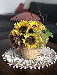 Dekorácie - Kvetinova dekoracia- slnecnica - 13413635_