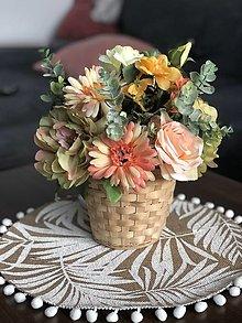 Dekorácie - Kvetinová dekorácia - 13413637_