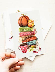 """Papier - Pohľadnica """"Hapiness is .."""""""" - 13413760_"""