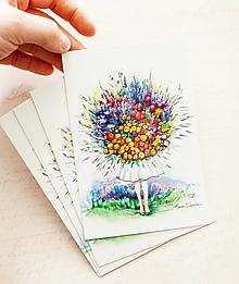 """Papier - Pohľadnica """"Flower Girl"""" - 13413795_"""