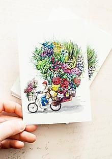 "Papier - Pohľadnica ""The Flower Seller"" - 13413801_"