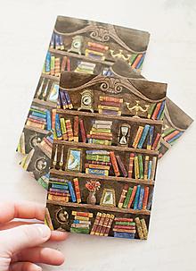 """Papier - Pohľadnica """"Bookshelves"""" - 13413855_"""