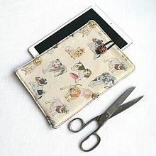 """Detské tašky - Puzdro psíky naturál na 10,5"""" iPad, tablet - 13412474_"""