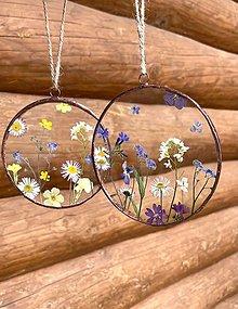 Dekorácie - Závesné dekorácie s jarnými kvetmi  - 13412752_