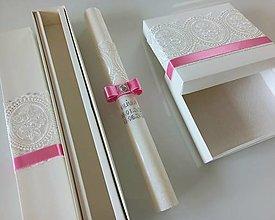 Svietidlá a sviečky - Sviečka na krst 40 cm + krabička na košieľku - 13412892_