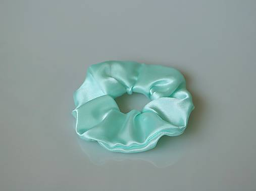 Scrunchies gumička saténová (mint)