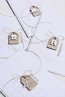 Papiernictvo - Gratulačný pozdrav - miniatúry (domček, klobúk, okuliare, telefón...) - 13415716_