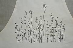 Iné oblečenie - Zásterka zo surovej bavlny Kreslené trávy fantázia - 13415787_