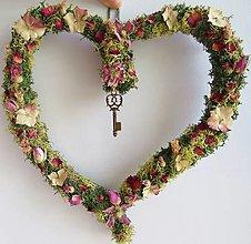 """Dekorácie - Srdce zo sušených kvetov """"Arwen"""" - 13415594_"""