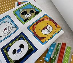 Textil - Kreatívna sada UŠI SI SÁM - Textilná knižočka leporelo (Zvieratká z exotiky) - 13415184_