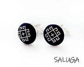 Šperky - Manžetové gombíky - ČIČMANY - čierne - 13415291_