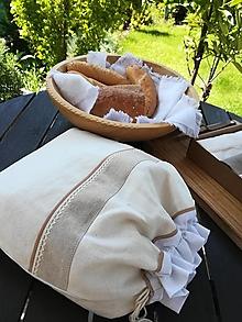 Úžitkový textil - Ľanové vrecko z  ručne tkaného  plátna PODŠITÉ - 13416115_